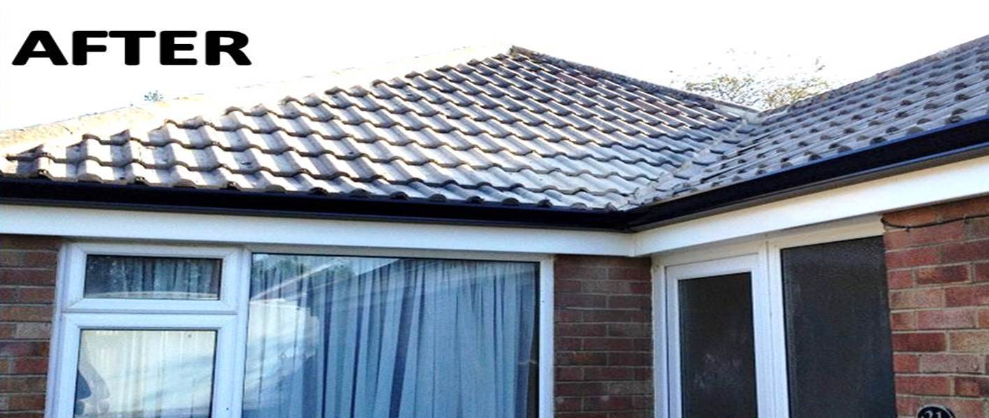 after Folkstone aluminium gutter installation