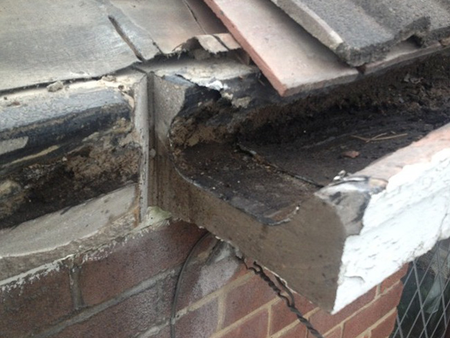 concrete box gutters Hereford