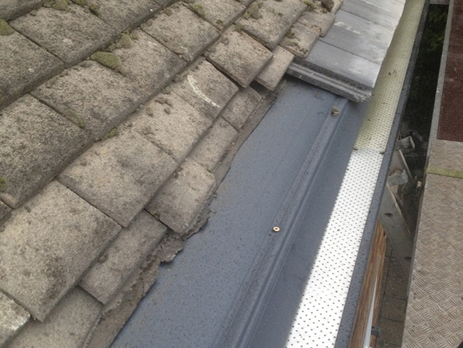 Harrow concrete gutter leaking